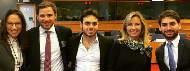Visite de l'association coeur à Liège au Parlement Européen