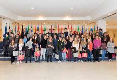 Rencontre avec les élèves de l'Athénée St Georges au Parlement européen à Bruxelles