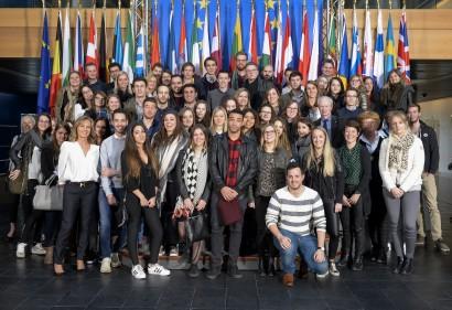 Visite des étudiants d'Helmo Liège au Parlement européen de Strasbourg