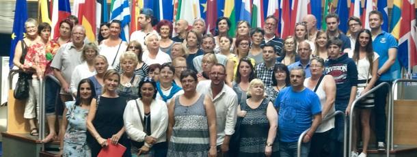 Visite de l'association Coeur de Liège au Parlement européen Strasbourg