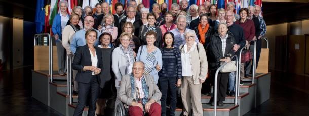 Visite de l'association Eneo Embourg au Parlement européen de Strasbourg