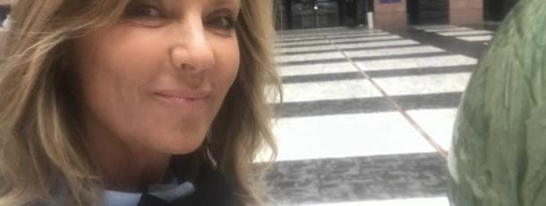 Selfie d'arrivée au Parlement de Strasbourg