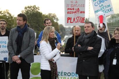 Mobiliser les troupes la veille du vote de mon rapport Plastiques à usage unique en plénière